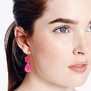 Never used Kate Spade pink dangle earrings